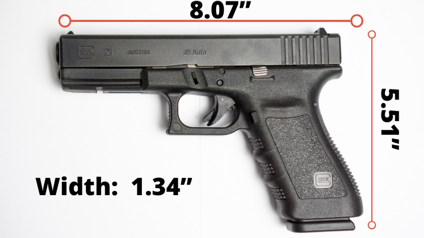 Glock 21 SF Size Graphic