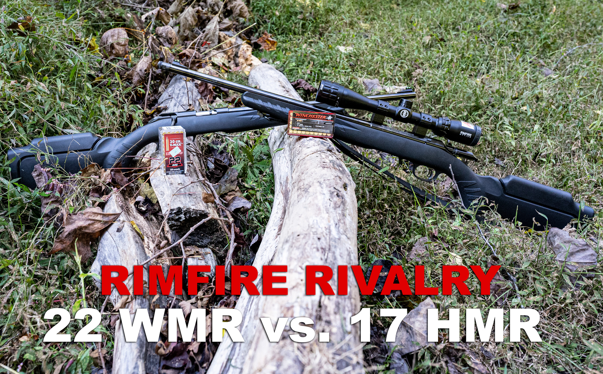 22 WMR vs 17 HMR rifles and ammo at a shooting range