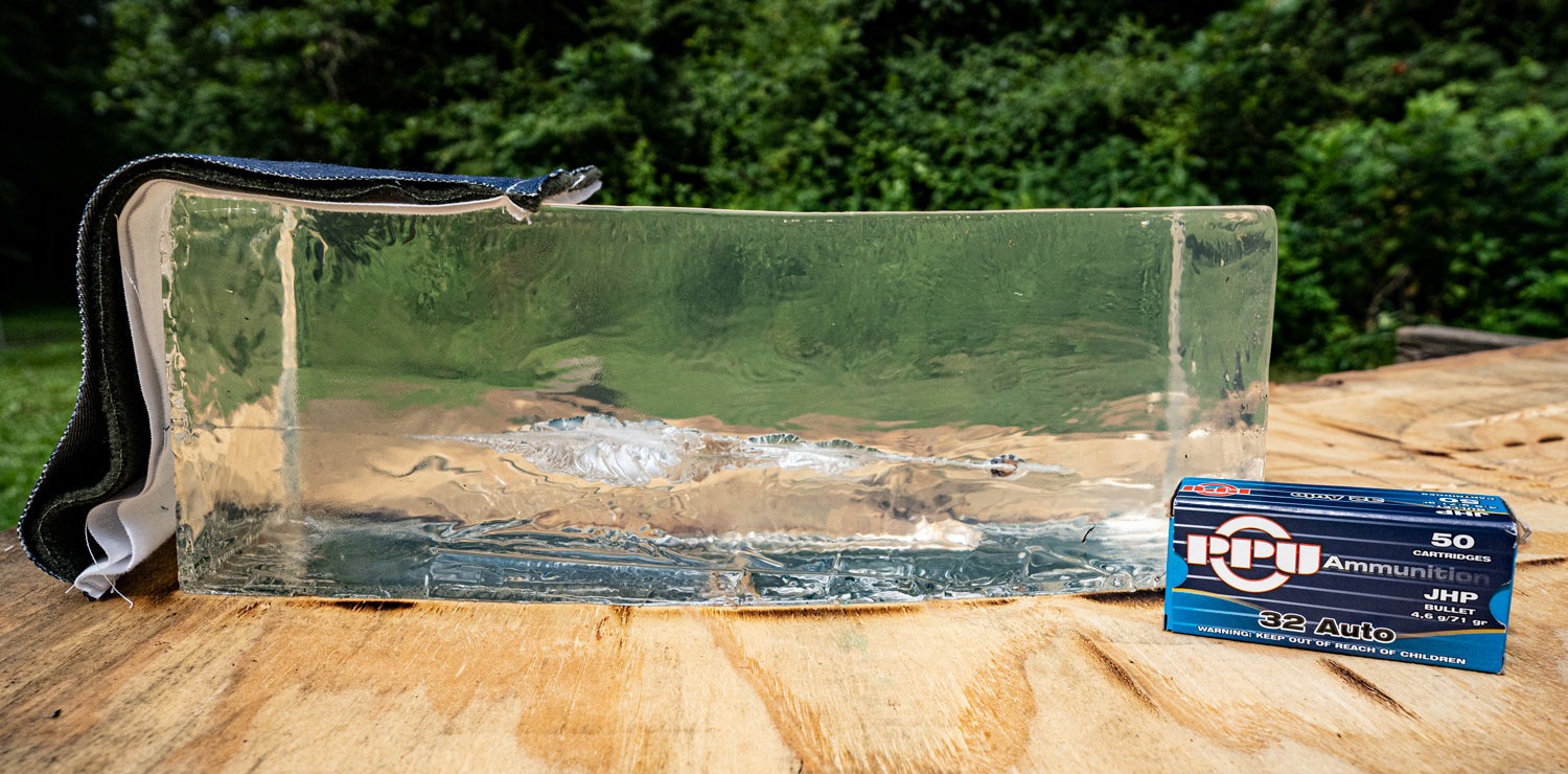 Ammo fired into ballistic gelatin to see its effectiveness in self defense situations