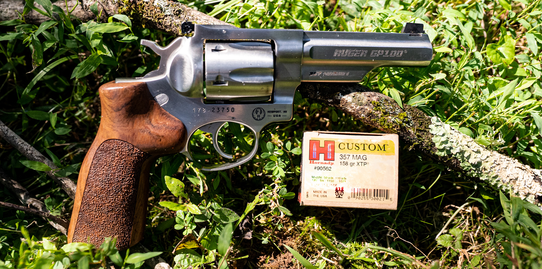 Ruger 357 magnum revolver with Hornady ammo