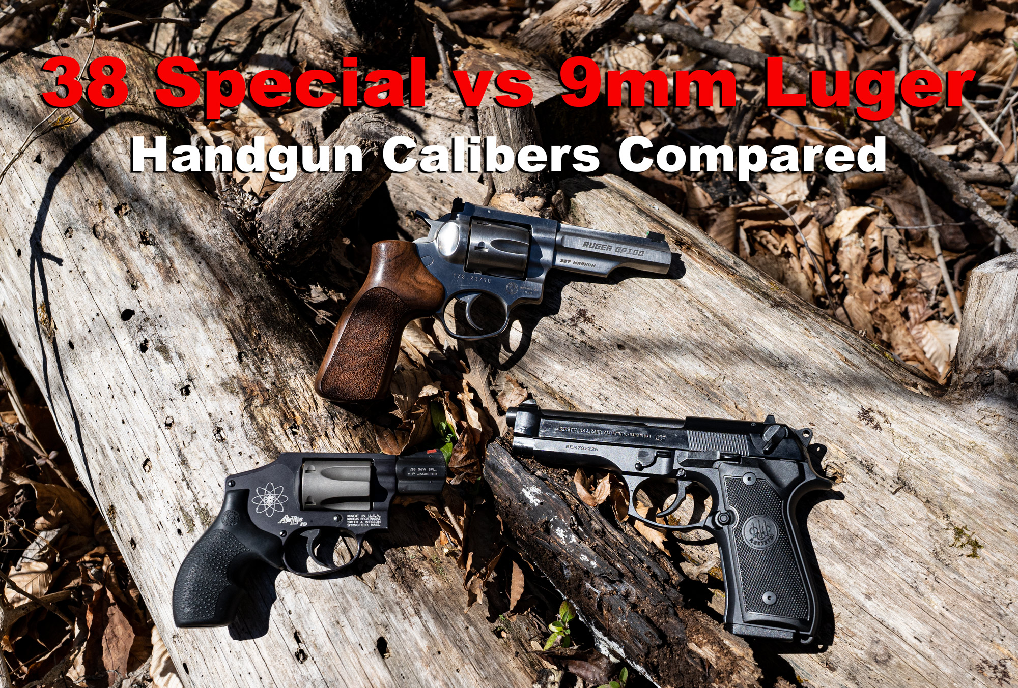 38 special vs 9mm handguns