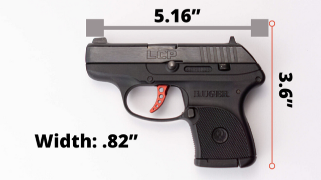 Ruger LCP Size Graphic