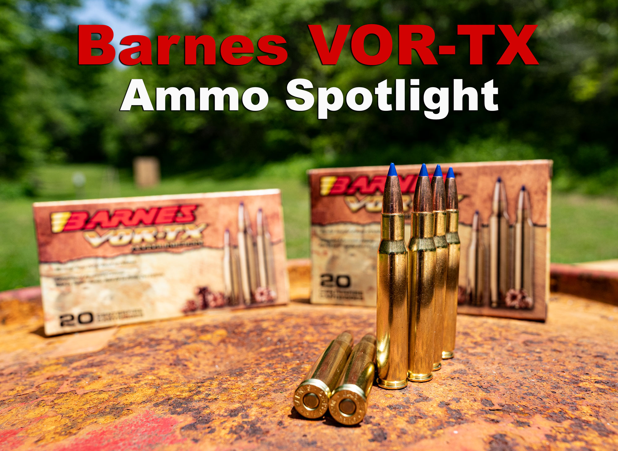 Barnes VOR-TX ammo at the range