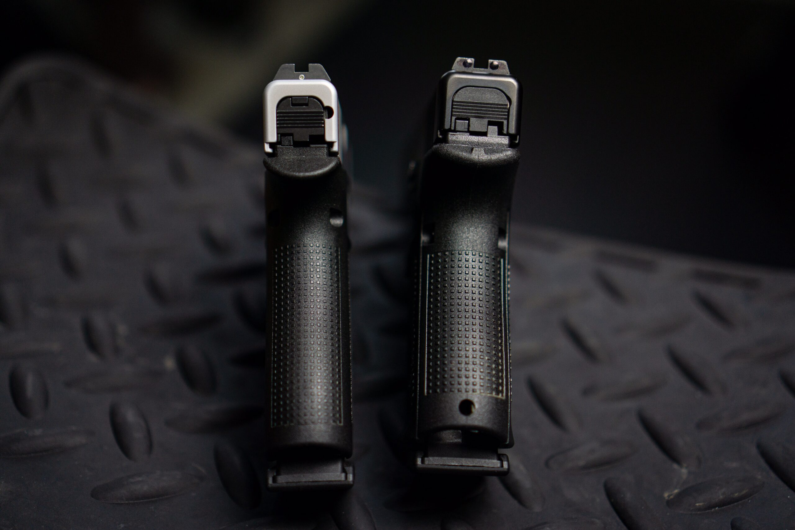 The Glock 48 vs Glock 19 Grip featured in an image showcasing that part of the pistols