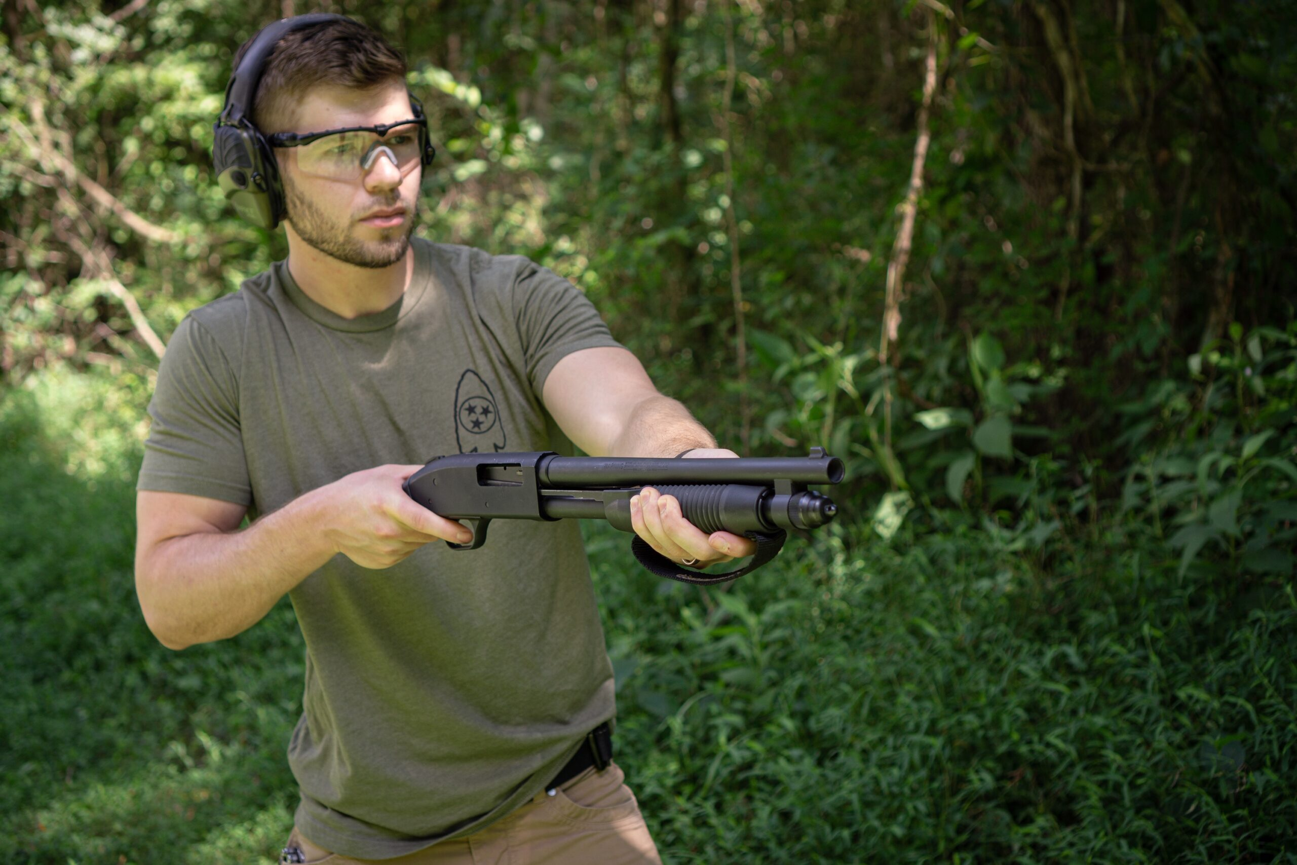 Nolan Firing The Mossberg Shockwave at the range