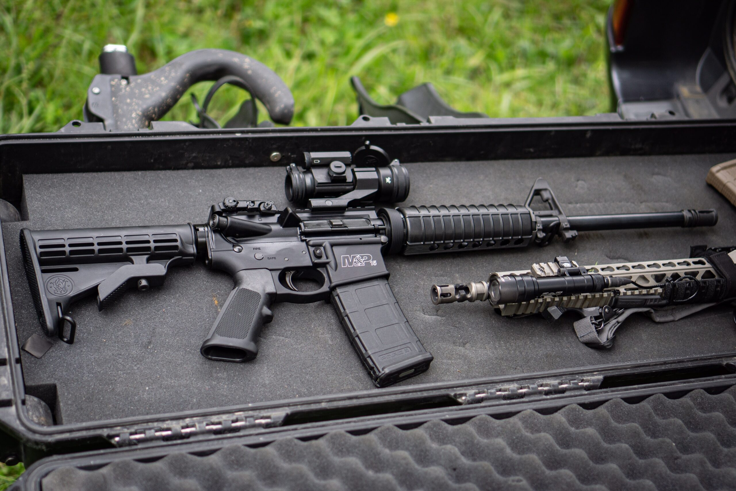 Smith and Wesson M&P 15 Sport 2 AR-15 in a gun case