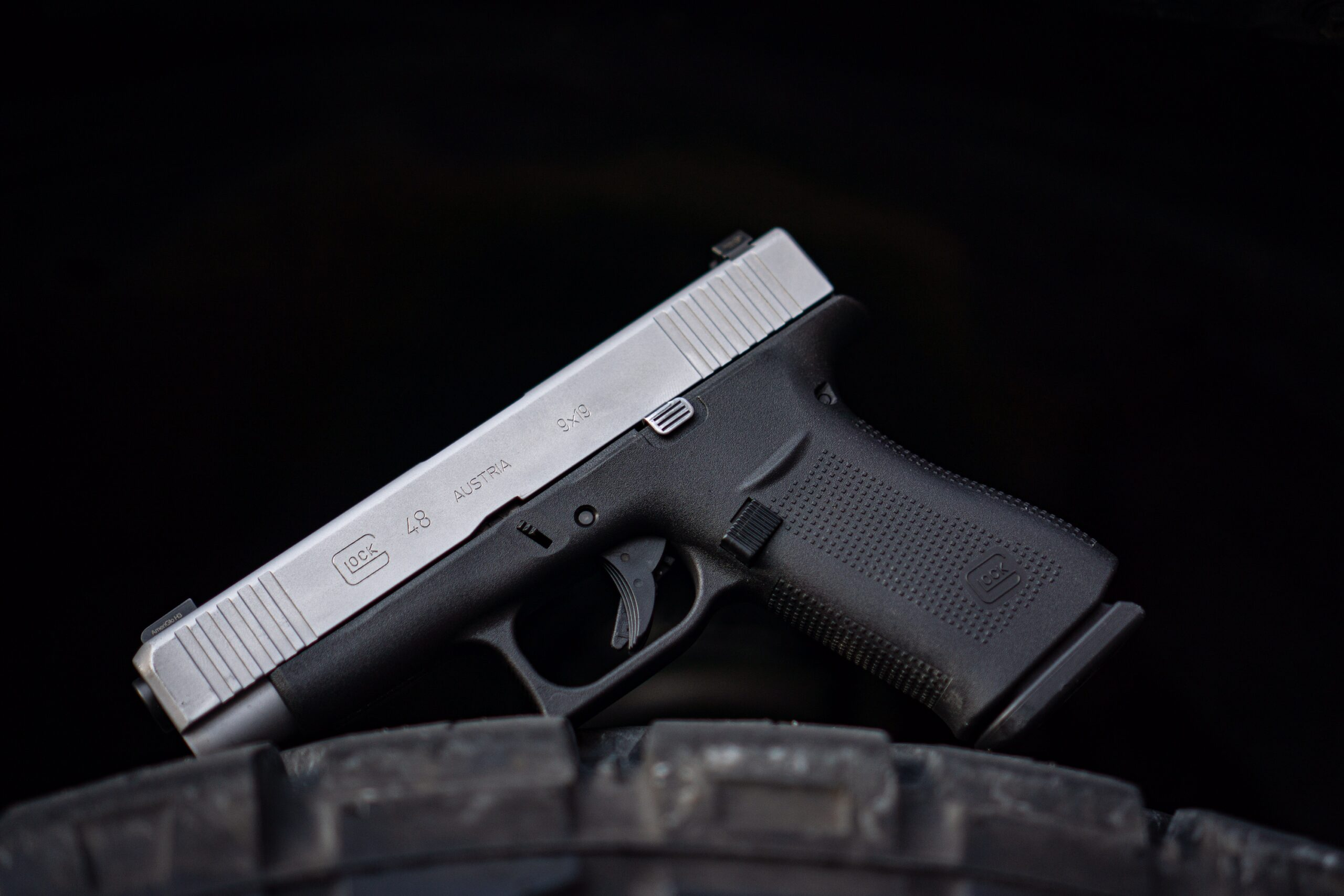 Glock 48 pistol used in our range review