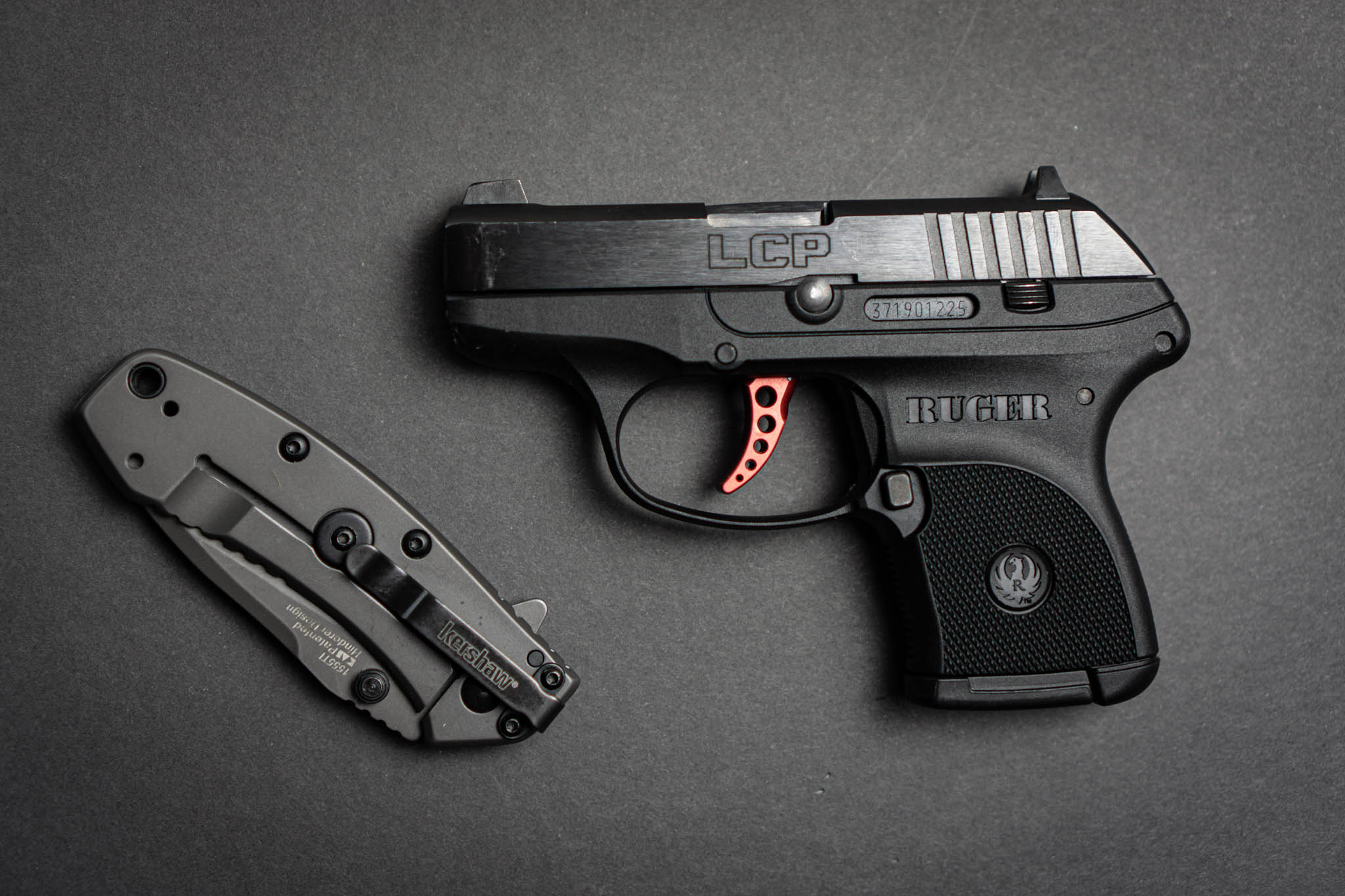 Ruger LCP With Pocket Knife