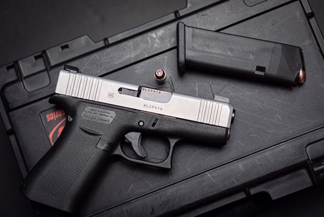 Glock 43X Displayed With Magazine Removed