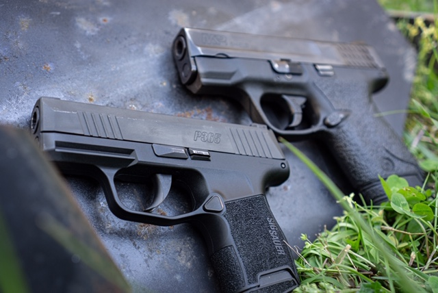 Sig P365 and S&W Shield 9mm