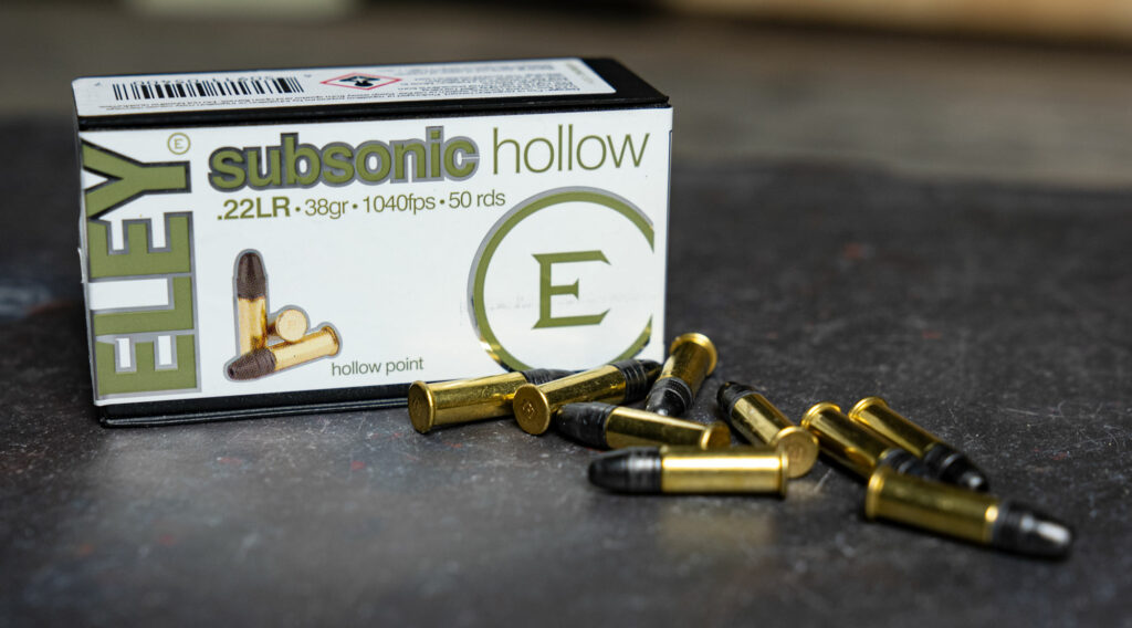 Eley subsonic 22 long rifle ammo