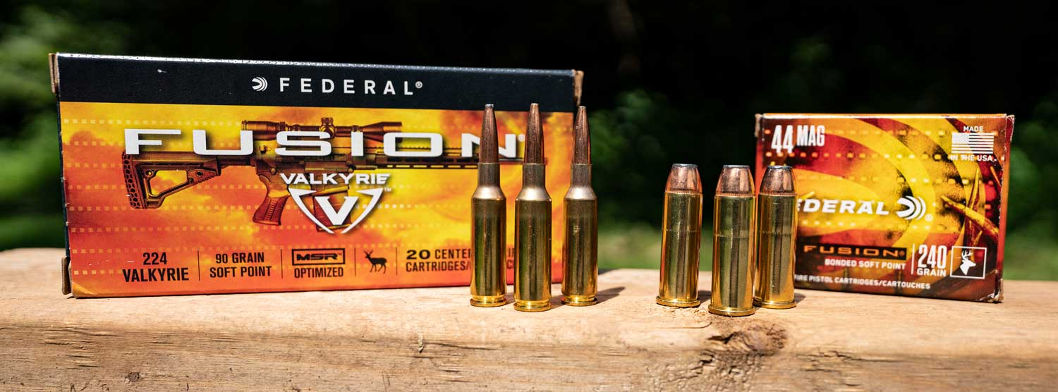 Federal Fusion Ammo displayed at a range