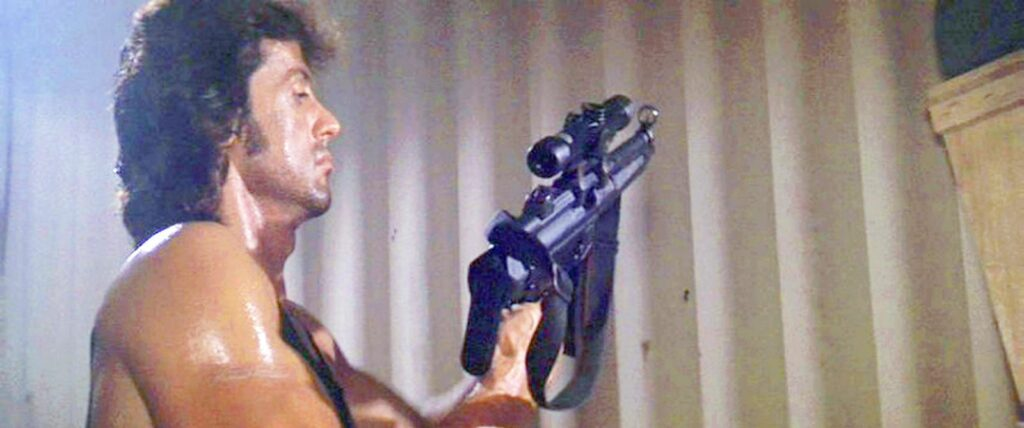 Rambo with Heckler and Koch MP5A3 Rifle