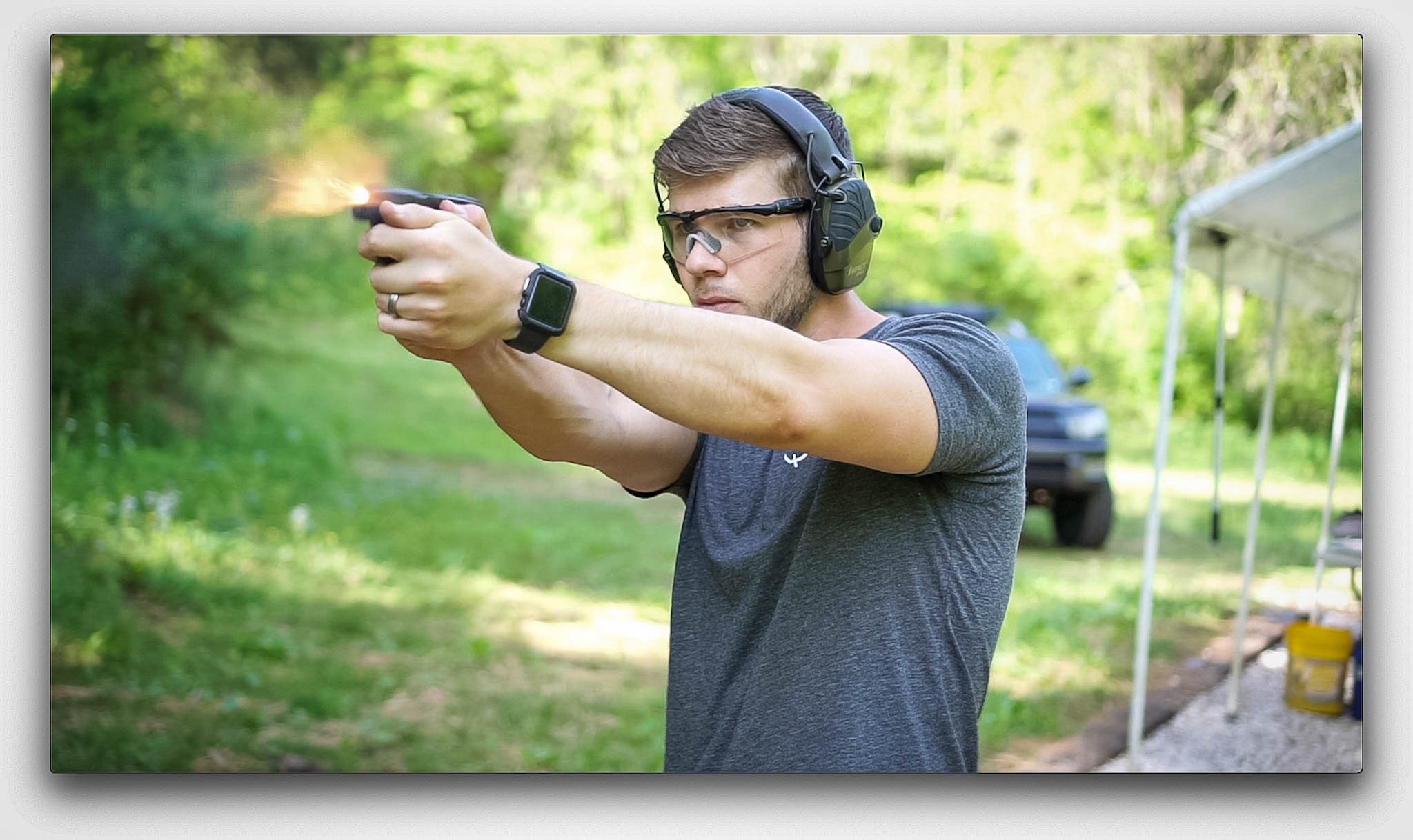 Nolan, the author Firing a Glock 42 as part of this review testing.