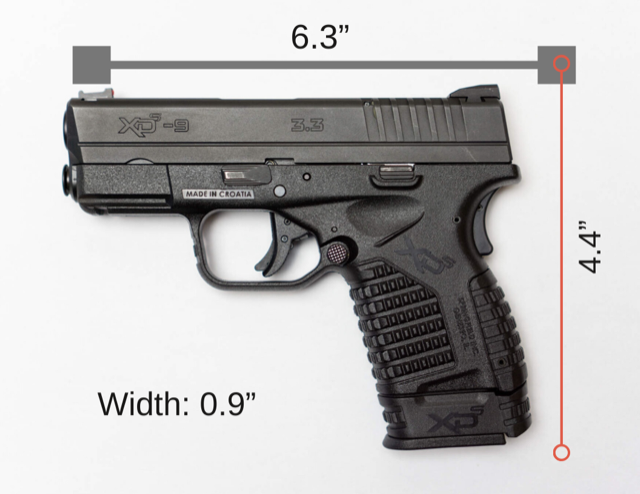 Springfield XDS Size Graphic