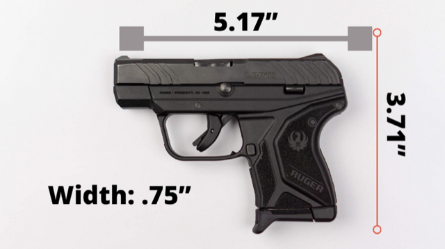 Ruger LCP II Size Graphic
