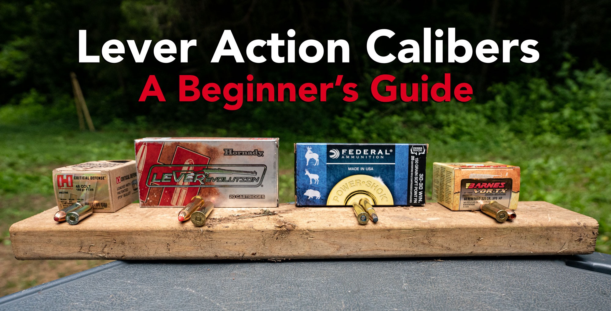 Guide to lever action rifle calibers
