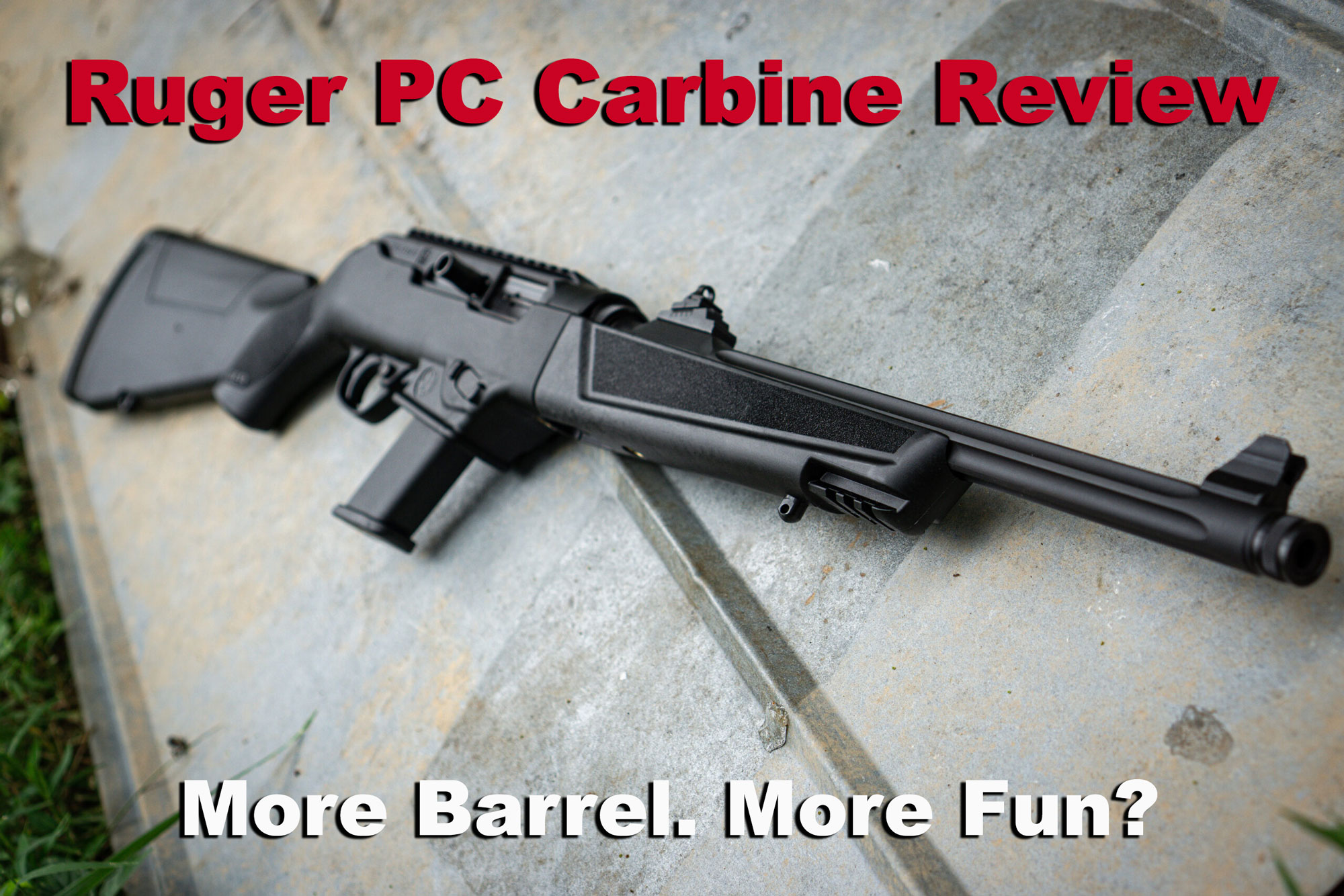 Ruger PC Carbine review - carbine at the range