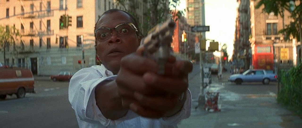 Samuel L Jackson with Smith and Wesson Model 36 Revolver