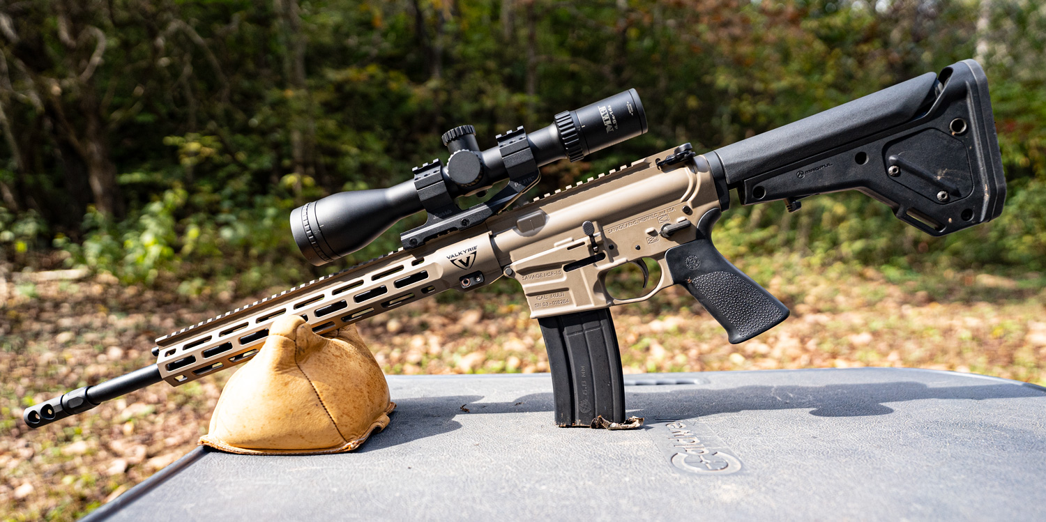 224 Valkyrie rifle at a shooting range