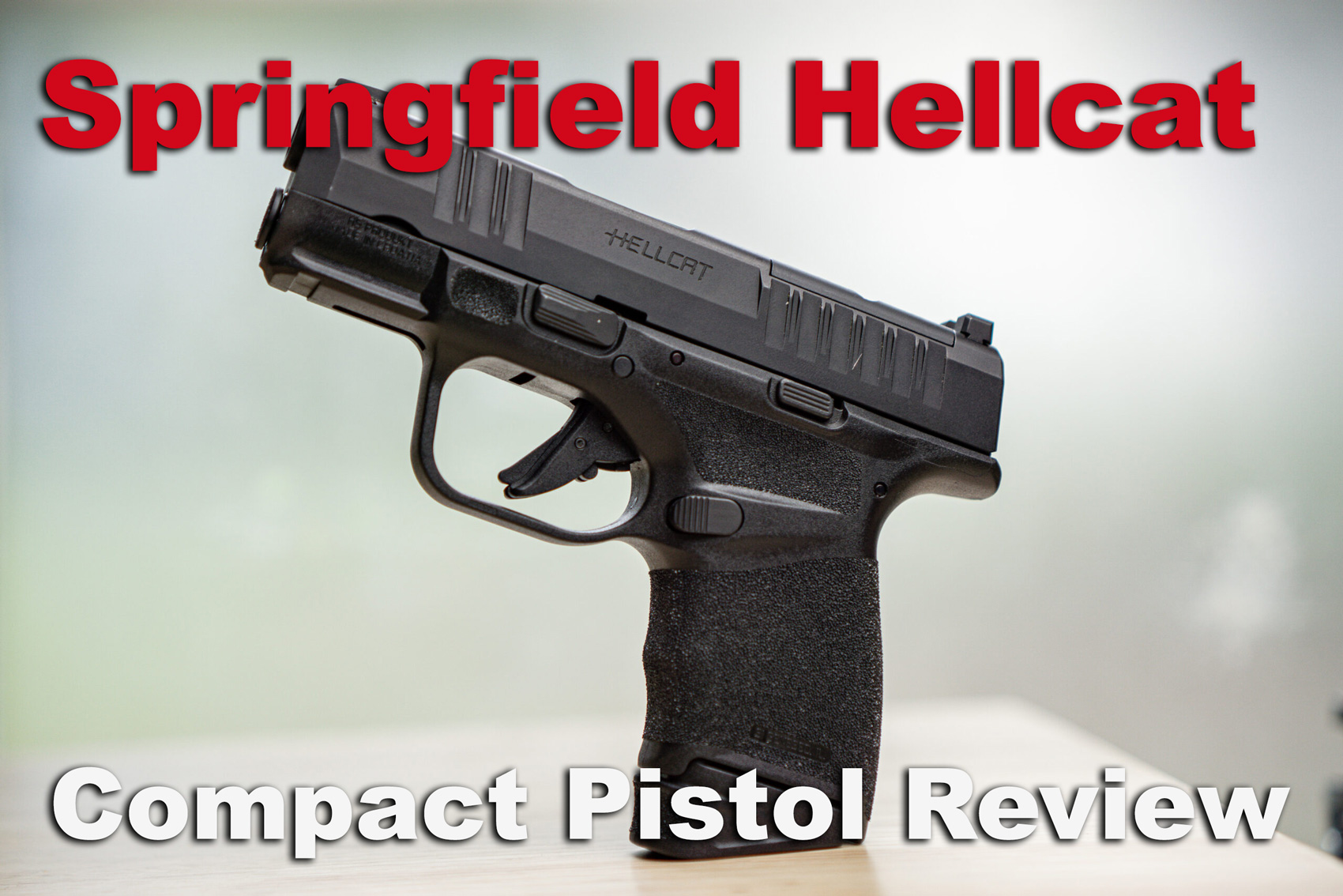 Springfield Hellcat review pistol displayed