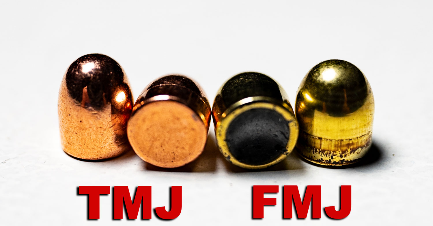 photo of TMJ vs. FMJ bullets pulled out of ammo