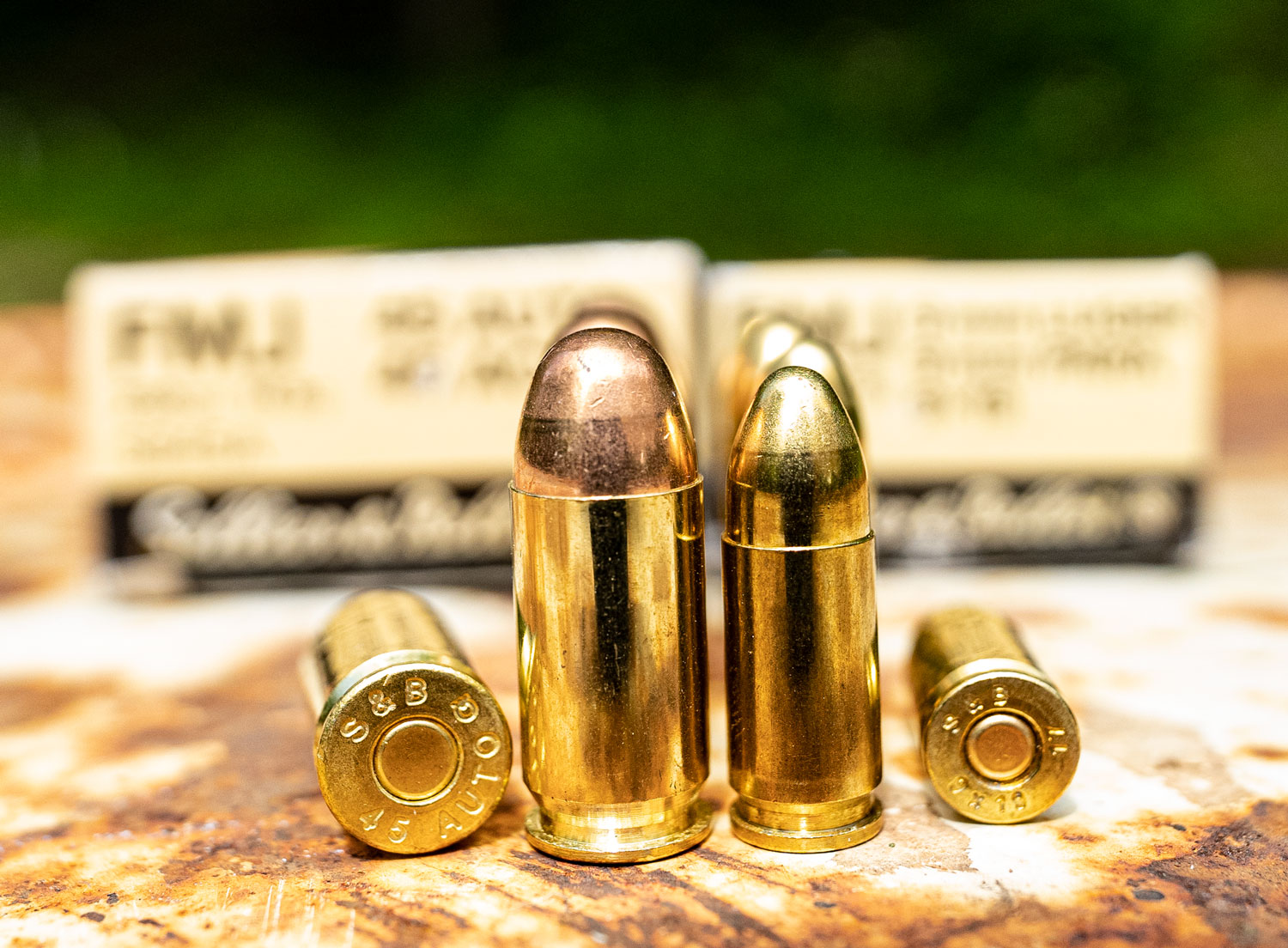 handgun bullets at the range