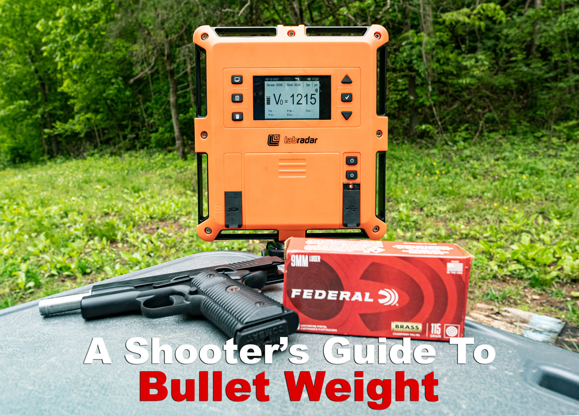 Bullet weight explained with ammo and chronograph