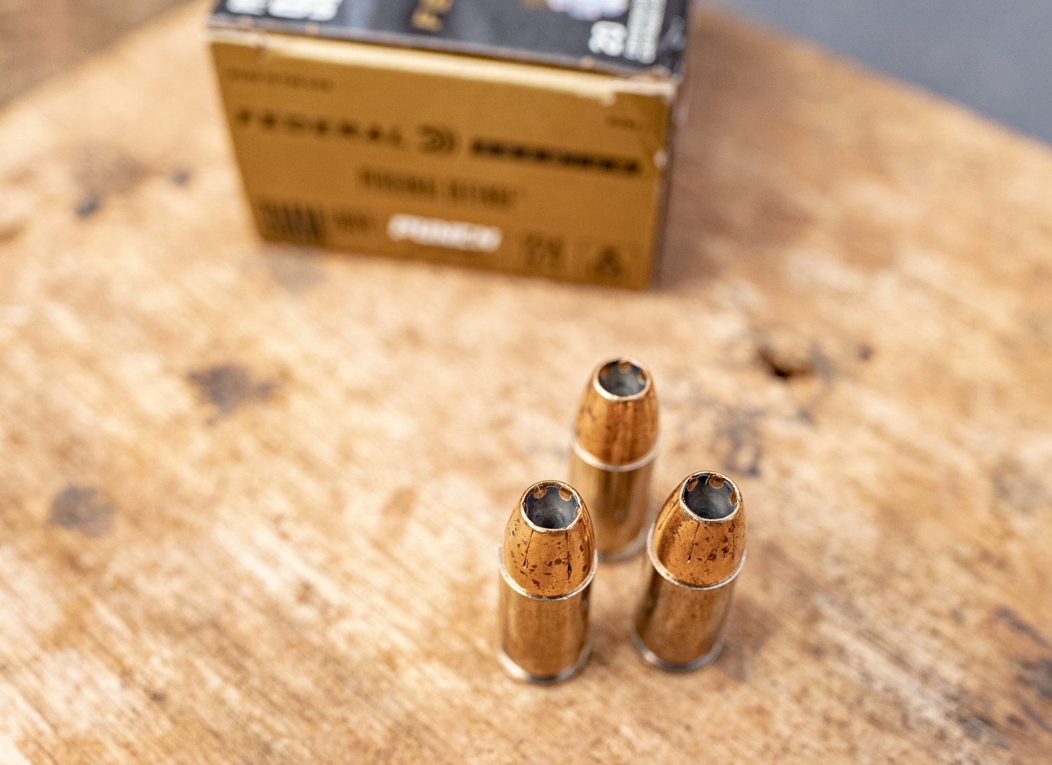 hollow point bullets are a good example of concave meplat