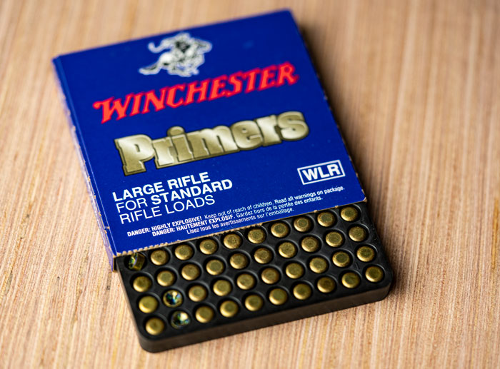 Box of winchester primers
