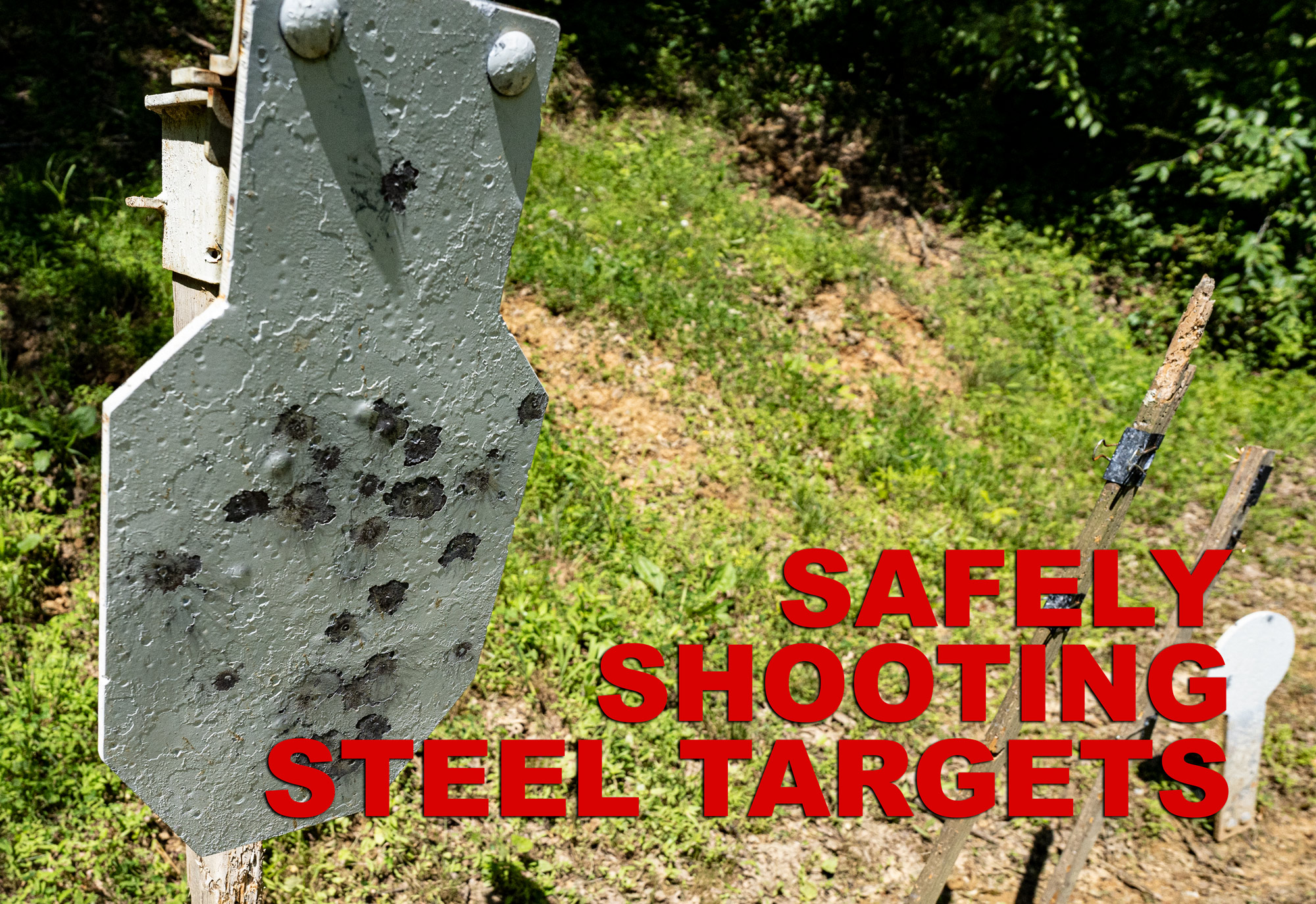Shooting steel targets safely at the range