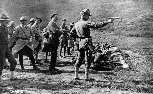 soldiers training in the early history of m1911 pistols