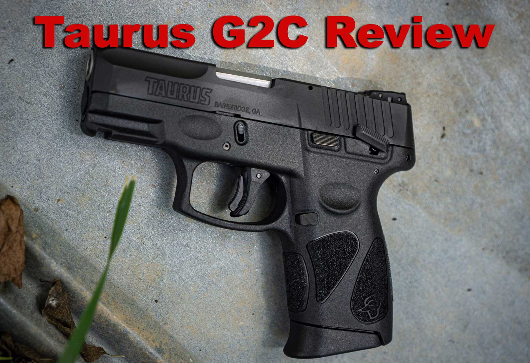 Taurus G2C review gun at the range